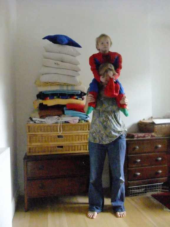 Helen Sargeant ©, Spider Boy and the Laundry Pile, 2013