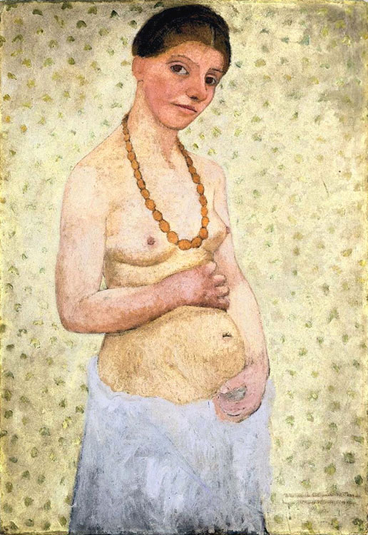 Paula Modersohn Becker, Self Portait of her Sixth Wedding Anniversary, 1906
